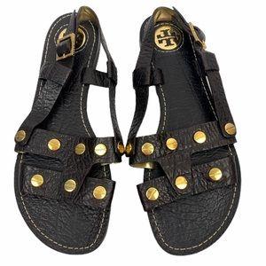 Tory Burch Blythe Gladiators Studded Sandals 8 NEW